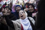 Egypťané protestují proti prezidentu Muhammadu Mursímu.