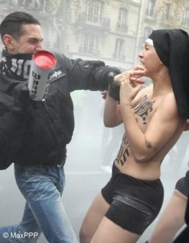 Agression des Femen quatre personnes en garde a vue