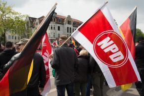 Demonstrace NPD v Erfurtu
