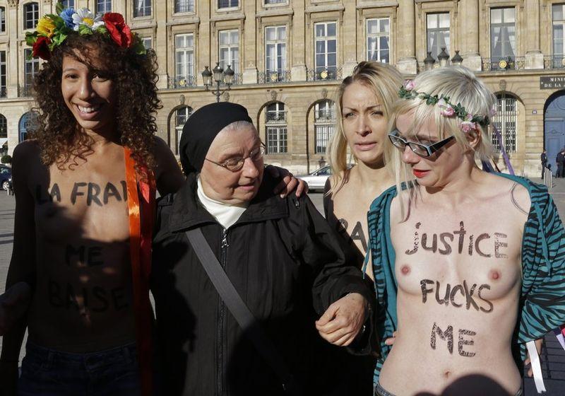 Een non zorgde voor het beeld van de dag in ...