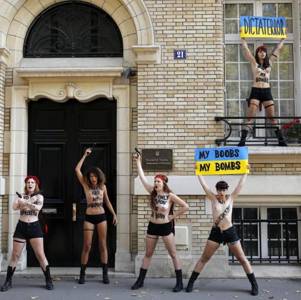 Trois activistes des Femen ont fui l Ukraine