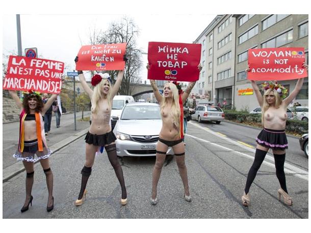 FEMEN protestbrcopy; Photo: ANP - http://www.anp.nl