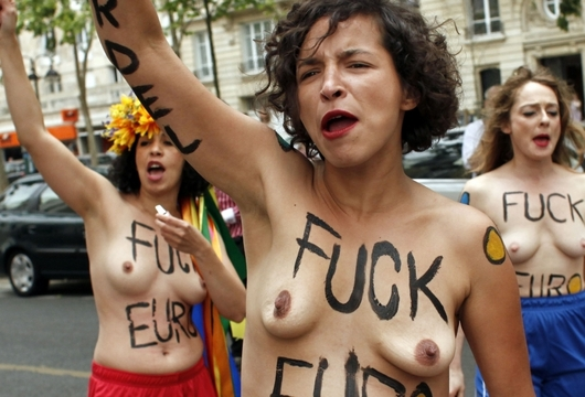 Nahé ukrajinské feministky: Takhle řádí (nejen) na Euru