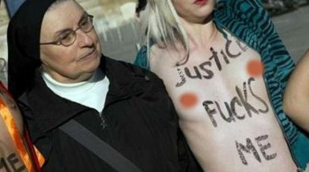 Μια καλόγρια στο πλευρό των Femen
