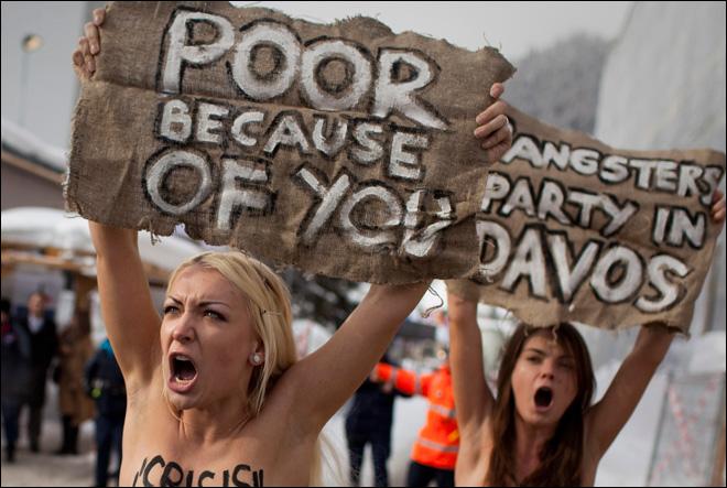 Topless Protestors