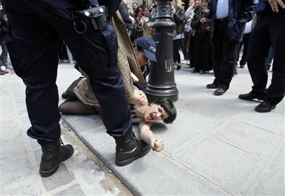 Femen, immagini di repertorio (Infophoto)
