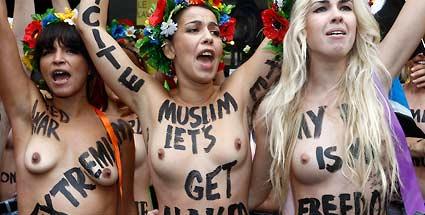 Im arabisch geprägten Pariser Viertel Goutte d'Or zogen Femen-Aktivistinnen blank (Quelle: Reuters)