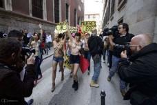 Türk FEMEN'lere İspanyol desteği