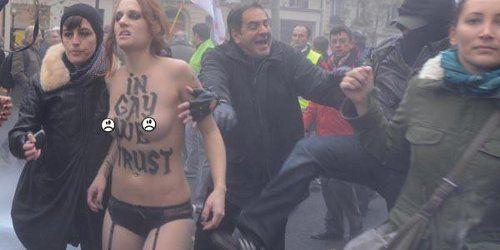 Manif anti-mariage gay : plainte de Civitas contre les Femen pour violences