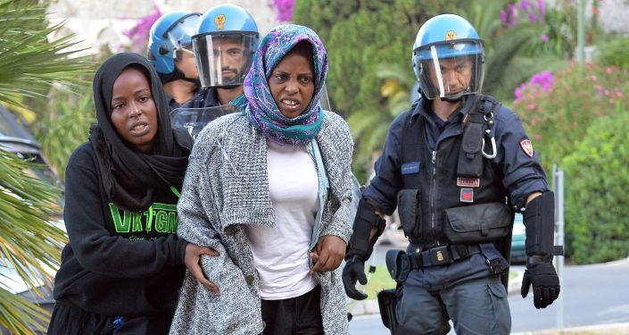 Imigranci w Ventimiglii