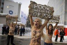 Les Femen défient Davos
