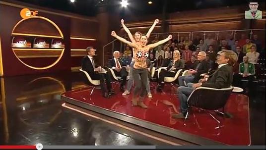 Femen protestiert bei Markus Lanz
