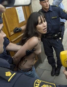 Nouvelle action des Femen a Stockholm