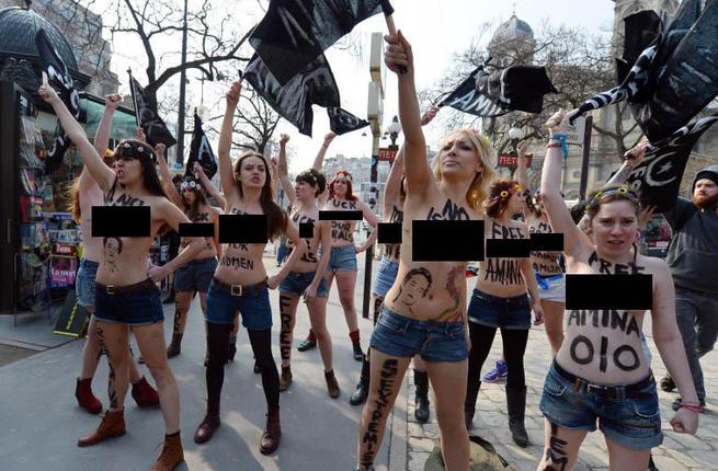 France Paris Topless Jihad