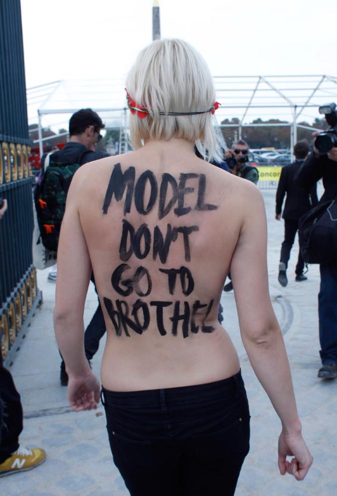 model-protest