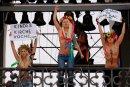 Activistas de la organización Femen protestan. Foto /Agencia EFE