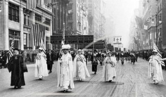 Amerikanische Suffragetten in New York, 1915