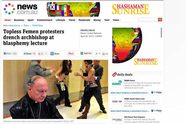 Prymas Belgii zosta zaatakowany przez feministki z grupy FEMEN.