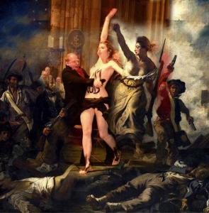 FEMEN  Josephine Witt protestiert im Klner Dom I am God | (c) femen.org