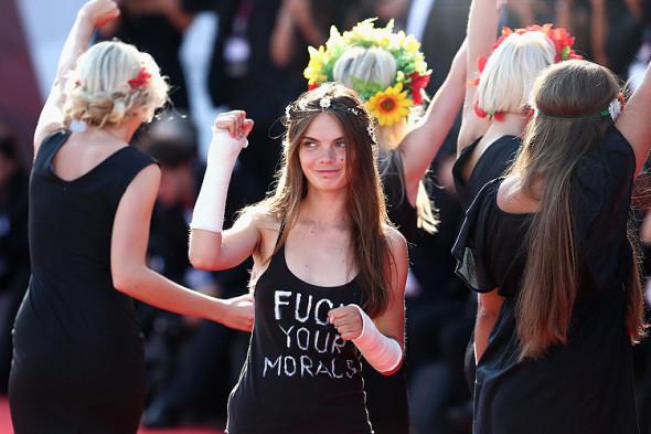 Le Femen alla Mostra del Cinema di Venezia (2013)
