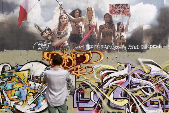 Tributo alle Femen in forma di murales (Francia, 2013)