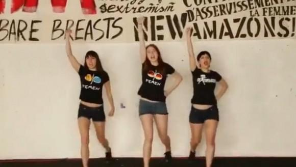 Inédit : Préparatifs de l'action seins nus de Femen en Tunisie