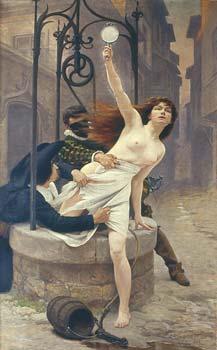 La Vrit sortant d'un puits est un tableau d'douard Debat-Ponsan, dat de 1898, peintre emblmatique de la III Rpublique, tableau connu dans le monde entier comme l'icne et le manifeste des dfenseurs d'Alfred Dreyfus. En effet Edouard Debat-Ponsan, toulousain, en rupture avec son milieu familial (riche en musiciens depuis le XVIII sicle) anti-dreyfusard, offrira ce tableau, grce  une souscription, (intitul aussi Nec mergitur)  Emile Zola, en soutien  son combat pour dfendre Dreyfus.