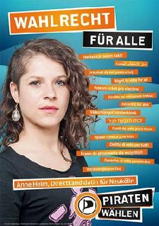Wahlkampfplakat von Anne helm. Quelle: Facebook - Anne Helm