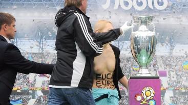 FEMEN activists anti-EURO protest in Lviv