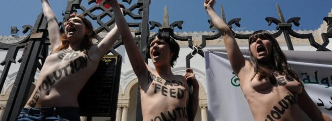 Festnahmen nach Oben-Ohne-Protesten in Tunis