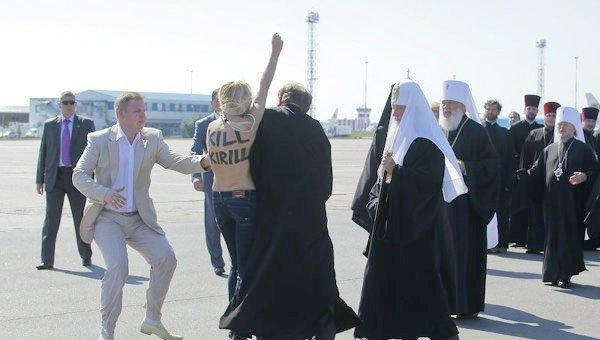 Rus Patriği Kirill'e Ukrayna'da Femen şoku