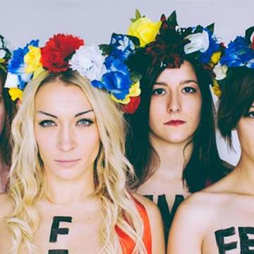 Image: Inna Shevchenko and other members of FEMEN