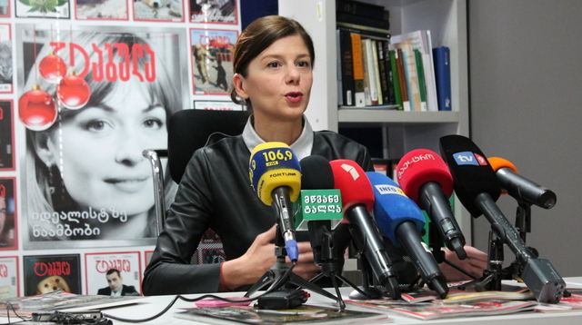 «Frauen sollen gleichzeitig Hure und Mutter sein»: Tamar Chergoleischwili, Direktorin des Medienunternehmens Tabula.