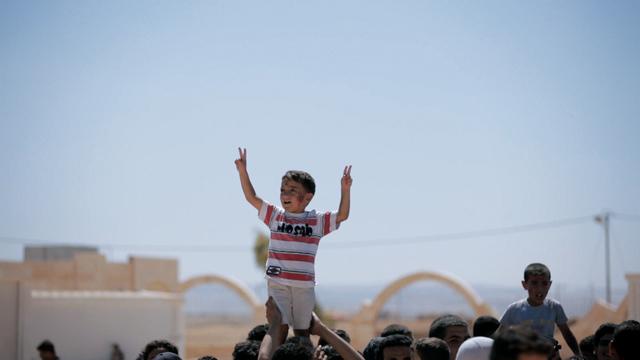 Plakativ: Szene aus «Everyday Rebellion» mit einem syrischen Jungen in einem Flüchtlingslager in Jordanien.