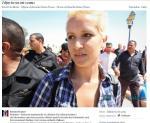 Amina ufarbowana na blond, na wzór europejskich aktywistek Femenu