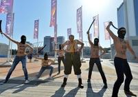 Protestující FEMEN-ky před finálem EURO