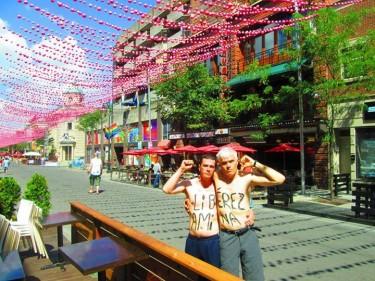 Soutien à Amina à Montréal posté sur la page facebook Femen France, reproduite avec autorisation de Femen France