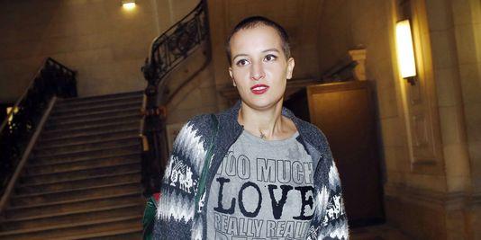 L'ex-Femen tunisienne Amina Sboui au palais de justice de Paris, le 8 octobre.