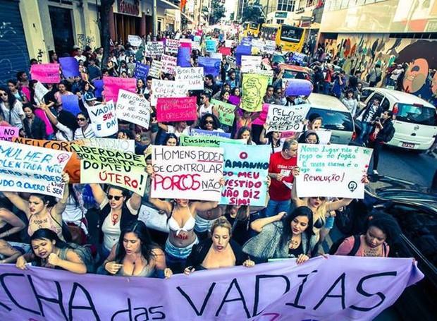 MARCHA DAS VADIAS EM SÃO PAULO (Foto: facebook)