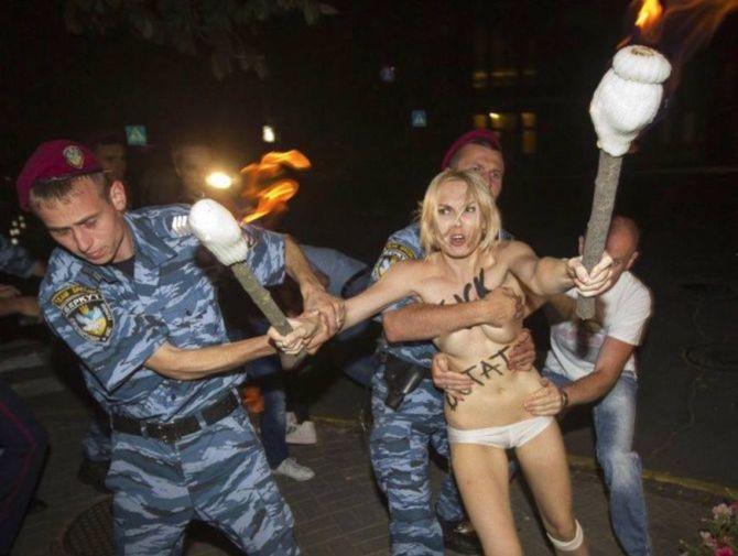 Protest w Kijowie (fot.FEMEN/Facebook)