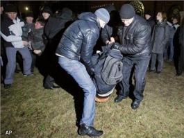 Demonstranten Wit-Rusland opgepakt