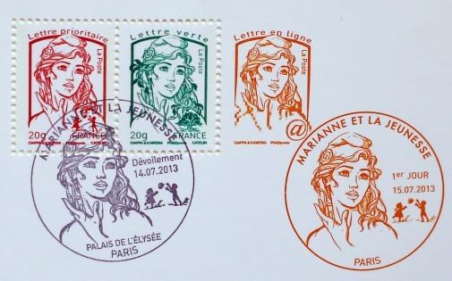 Le timbre Marianne inspiré par une Femen selon Olivier Ciappa, l'un des co-auteurs (illustration).
