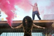 El feminismo se desnuda en Davos - Fuente: AFP.