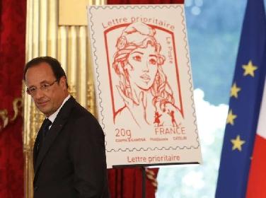Francia, una Femen sul francobollo
