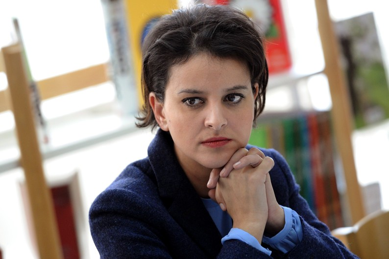 Najat Vallaud-Belkacem le 6 fvrier 2015 dans une cole primaire  Paris