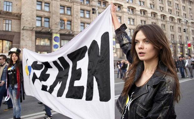 Oksana Shachko (kadr z filmu Jestem Femen)