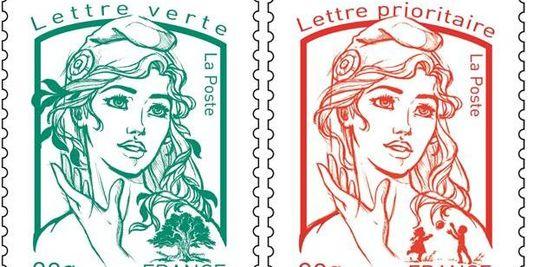 Le nouveau visage de Marianne sur les timbres d'usage courant.
