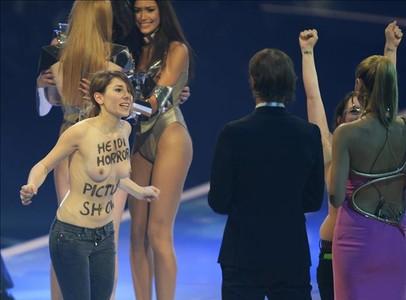 Feministas, en la emisión de 'Next Top Model' de Alemania.