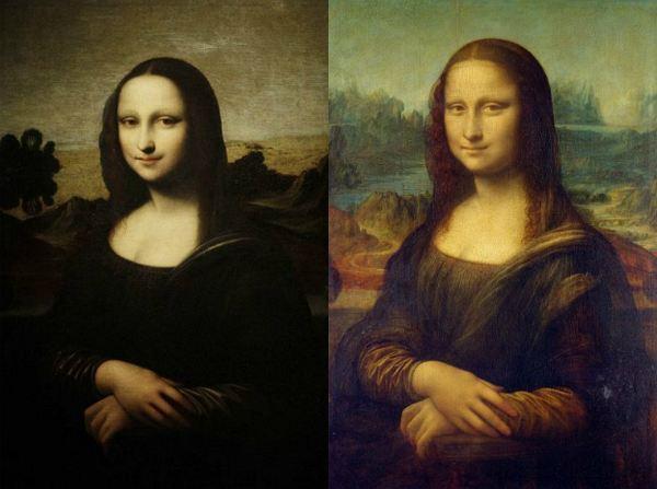 Справа - классическая «Мона Лиза дель Джоконда». Слева - вновь обретенная.