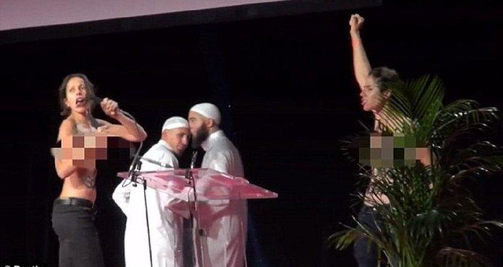 Aktywistki Femenu zostały pobite i aresztowane za zakłócenie Konferencji Muzułmańskiej